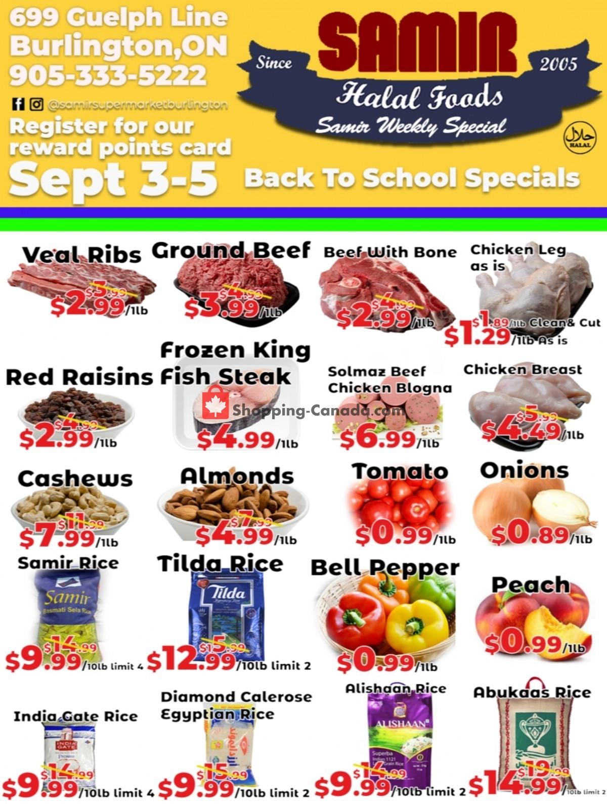 Flyer Samir Supermarket Canada - from Friday September 3, 2021 to Sunday September 5, 2021