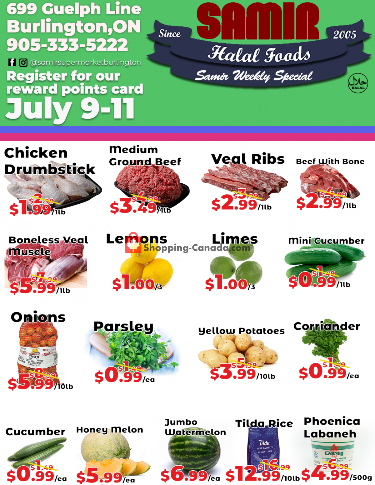 Flyer Samir Supermarket Canada - from Friday July 9, 2021 to Sunday July 11, 2021