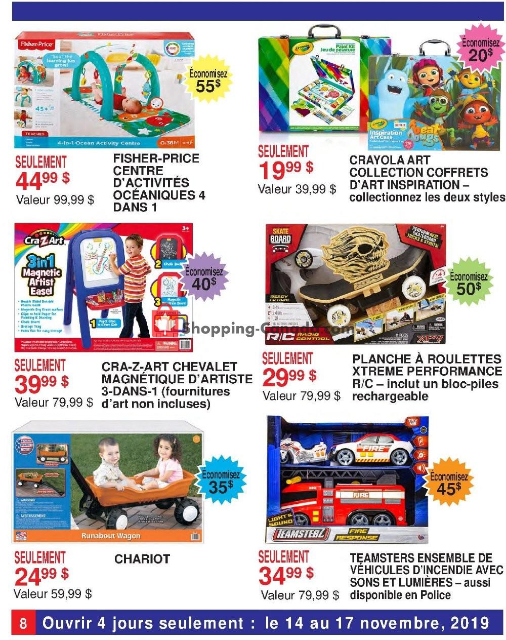 Flyer Samko and Miko Toy Warehouse Canada - from Thursday November 14, 2019 to Sunday November 17, 2019