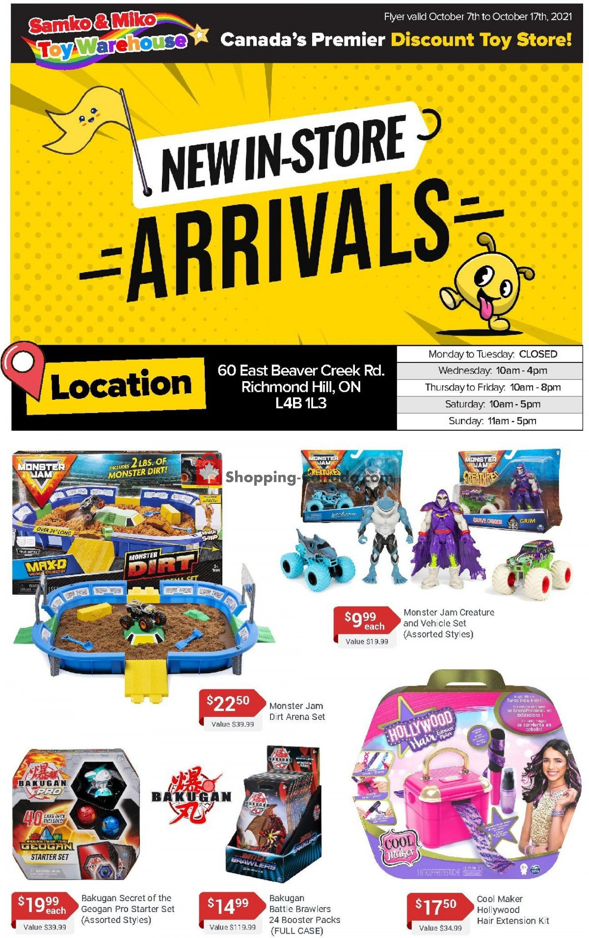 Flyer Samko and Miko Toy Warehouse Canada - from Thursday October 7, 2021 to Sunday October 17, 2021