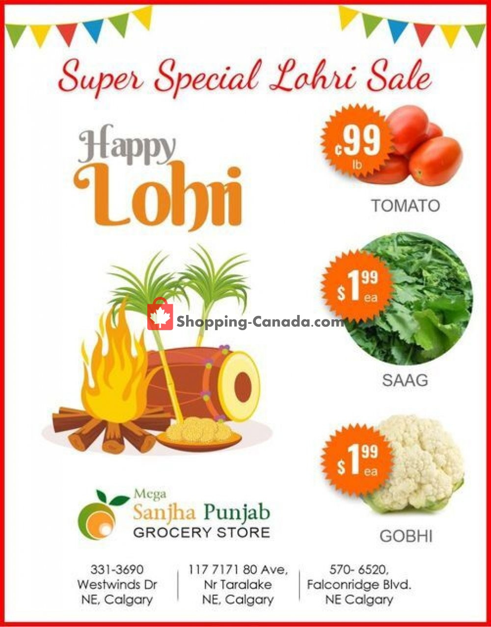Flyer Sanjha Punjab grocery store Canada - from Tuesday January 12, 2021 to Monday January 18, 2021