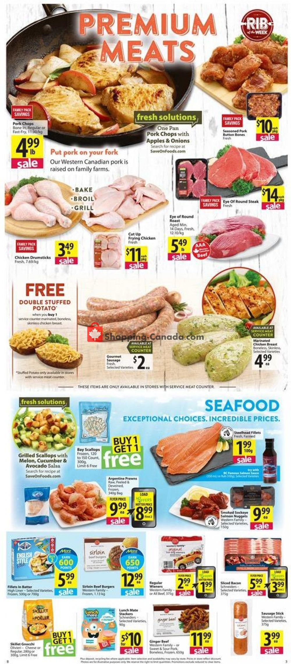 Flyer Save On Foods Canada - from Thursday September 5, 2019 to Wednesday September 11, 2019