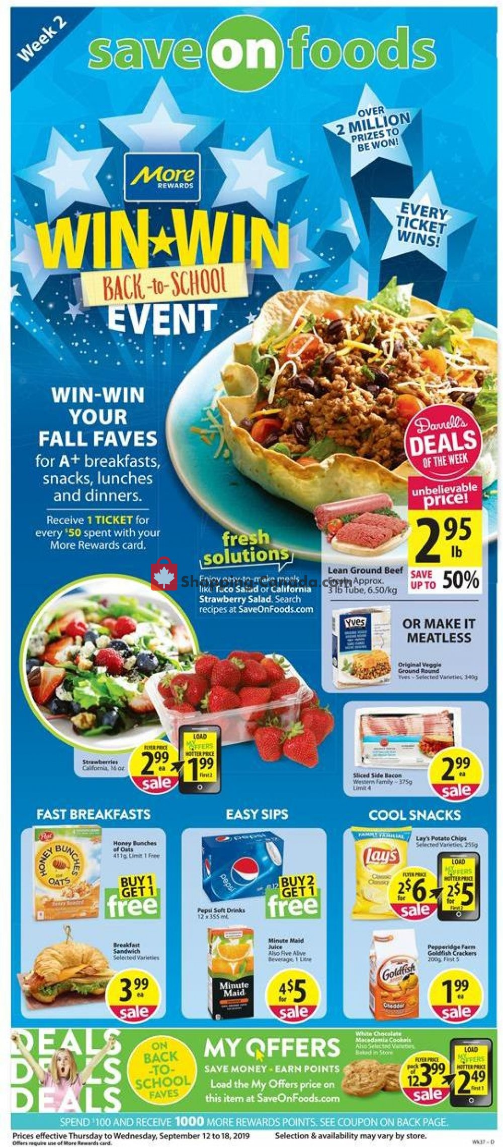 Flyer Save-On-Foods Canada - from Thursday September 12, 2019 to Wednesday September 18, 2019