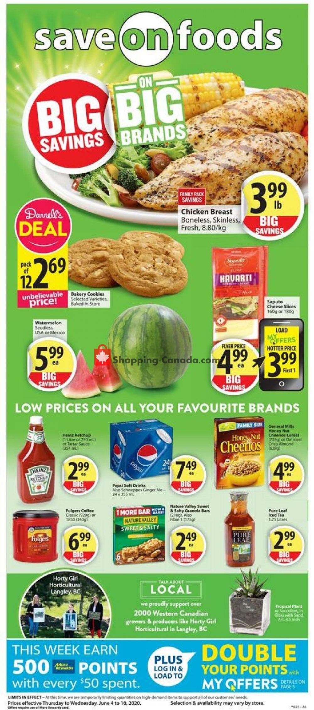 Flyer Save On Foods Canada - from Thursday June 4, 2020 to Wednesday June 10, 2020