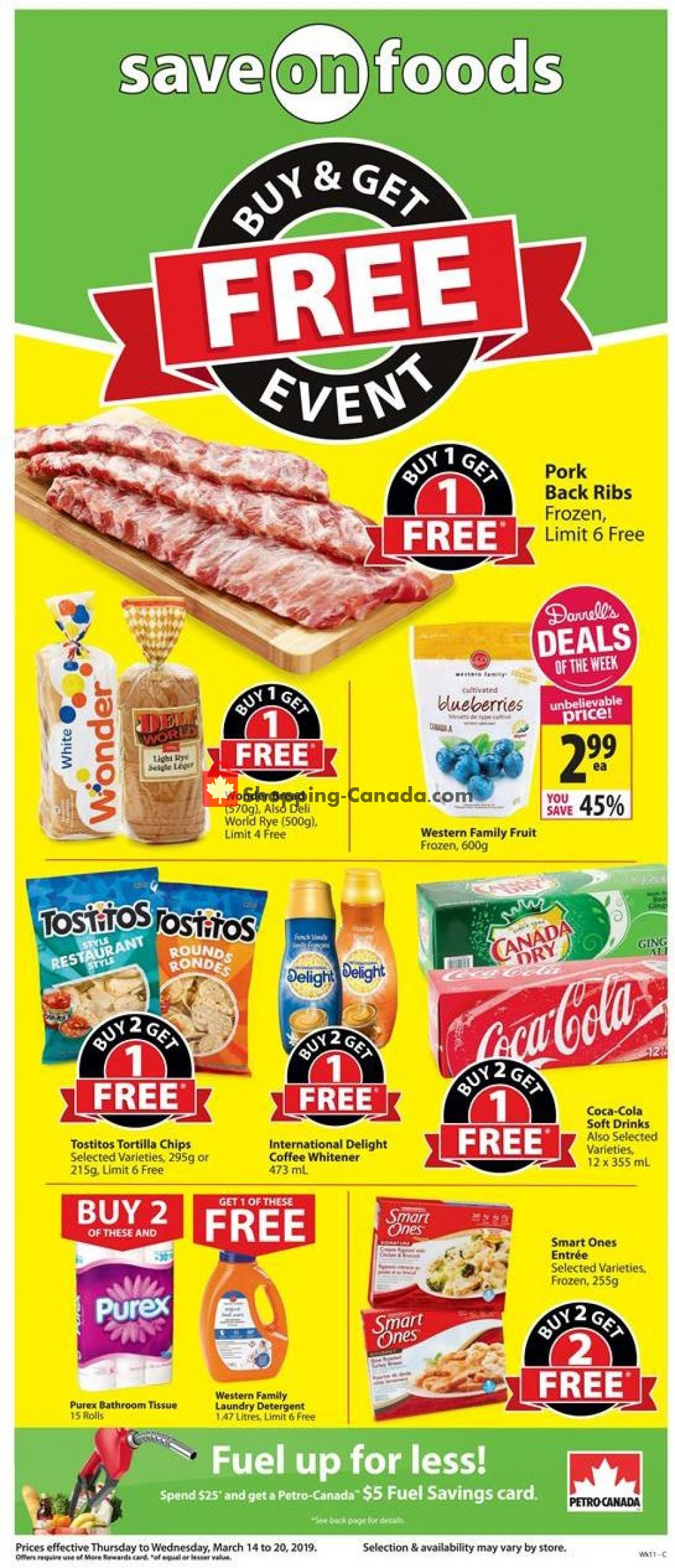Flyer Save On Foods Canada - from Thursday March 14, 2019 to Wednesday March 20, 2019