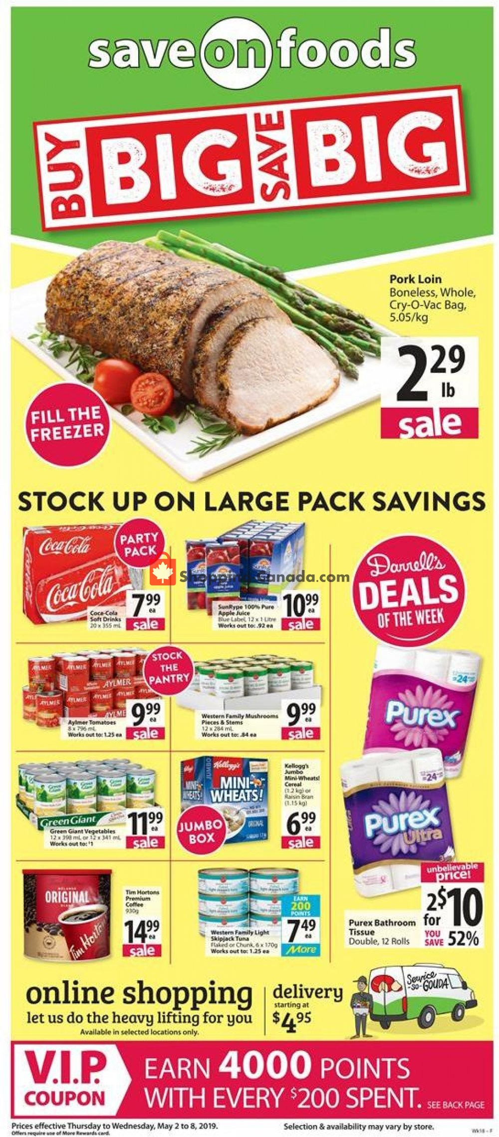 Flyer Save On Foods Canada - from Thursday May 2, 2019 to Wednesday May 8, 2019