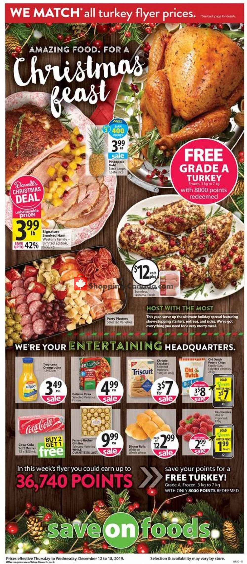 Flyer Save-On-Foods Canada - from Thursday December 12, 2019 to Wednesday December 18, 2019