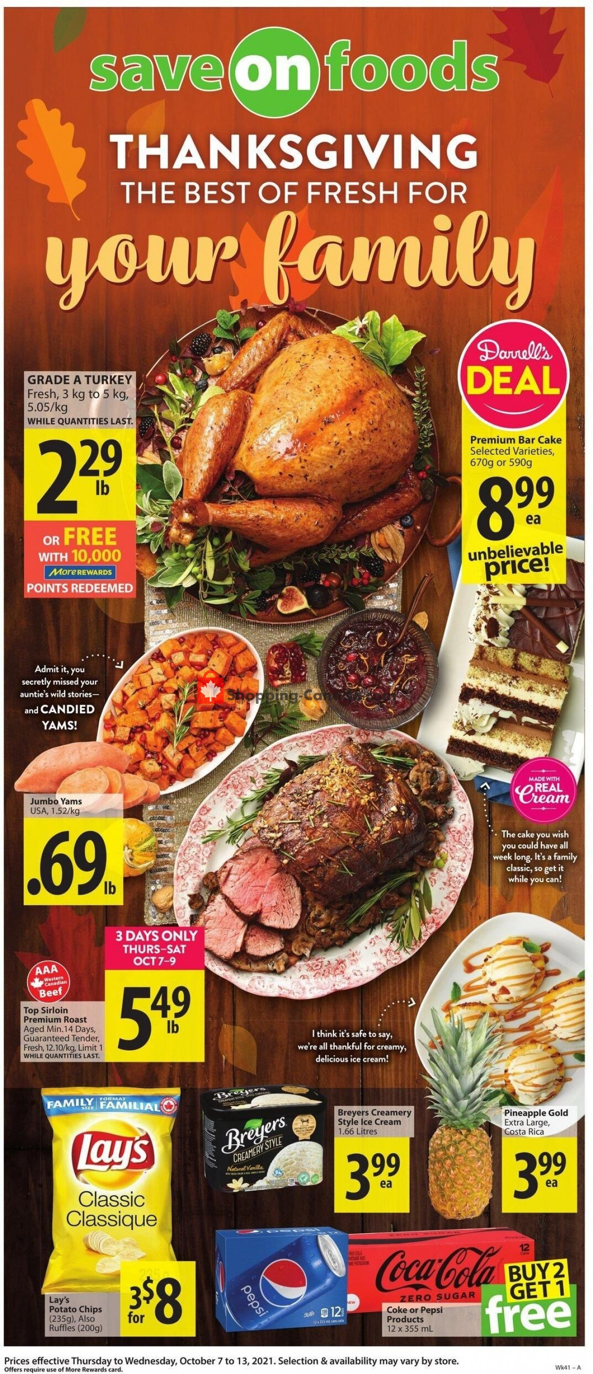 Flyer Save On Foods Canada - from Thursday October 7, 2021 to Wednesday October 13, 2021