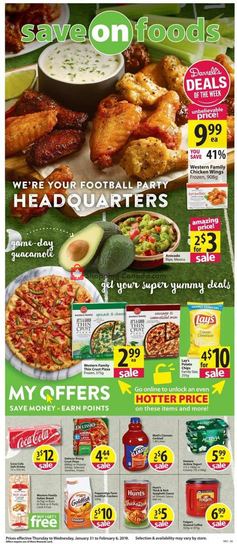 Flyer Save On Foods Canada - from Thursday January 31, 2019 to Wednesday February 6, 2019