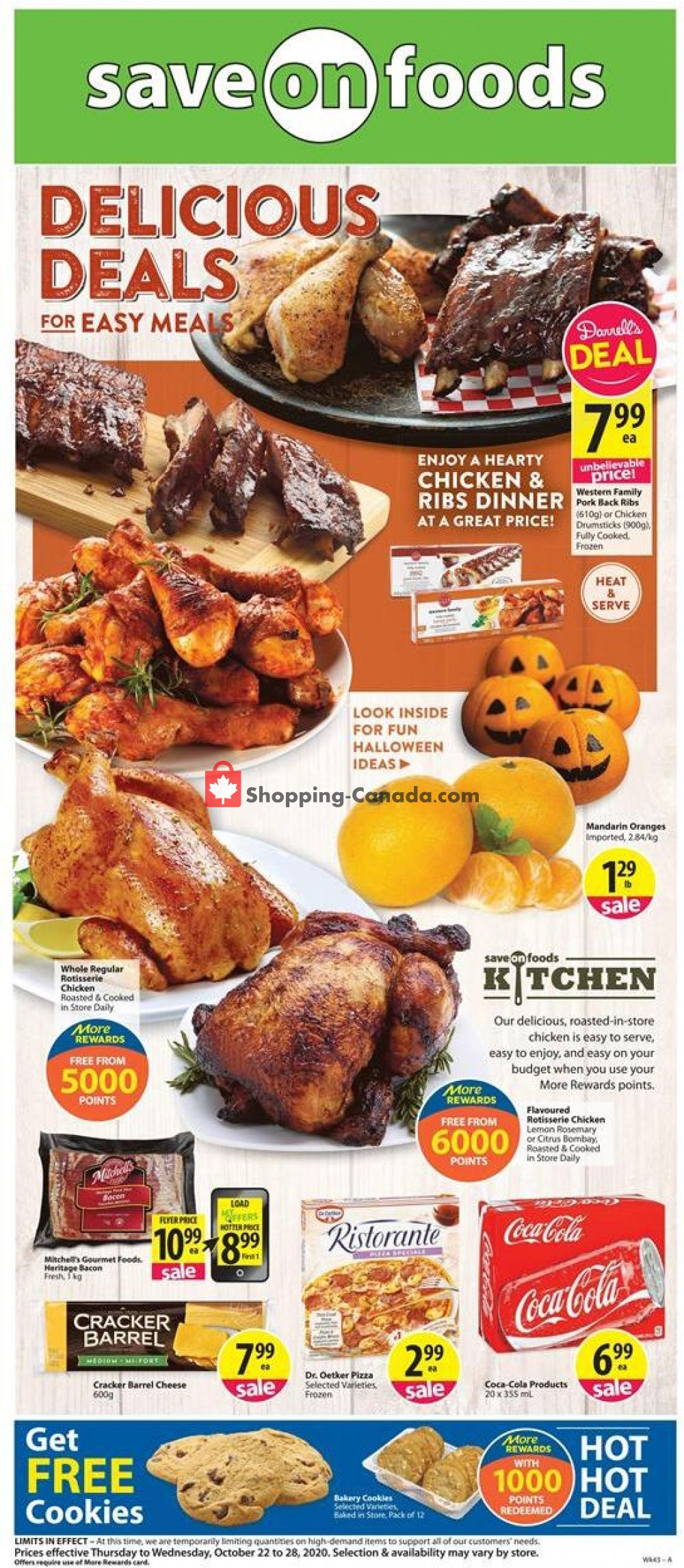 Flyer Save On Foods Canada - from Thursday October 22, 2020 to Wednesday October 28, 2020