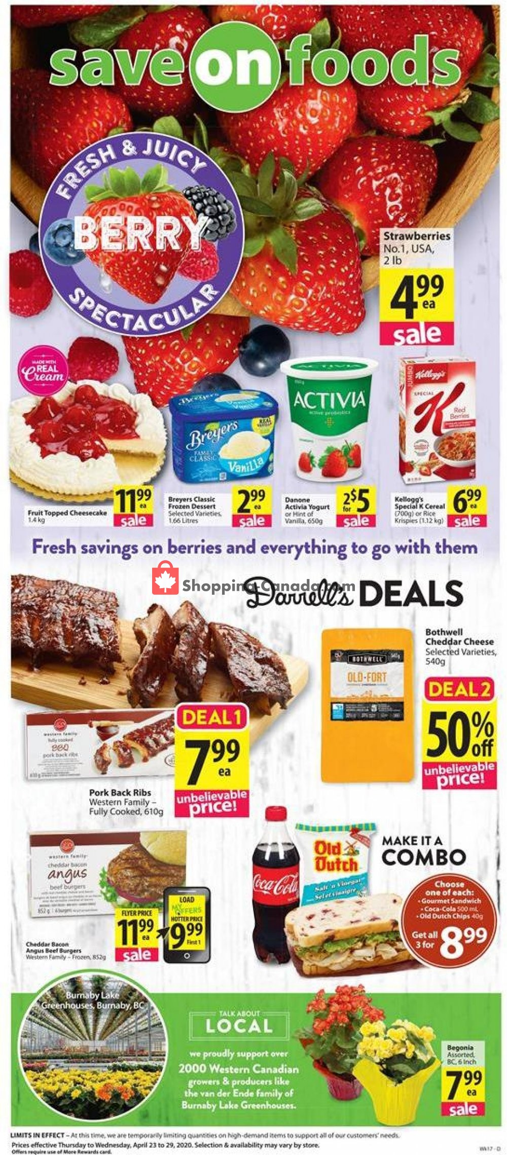 Flyer Save On Foods Canada - from Thursday April 23, 2020 to Wednesday April 29, 2020