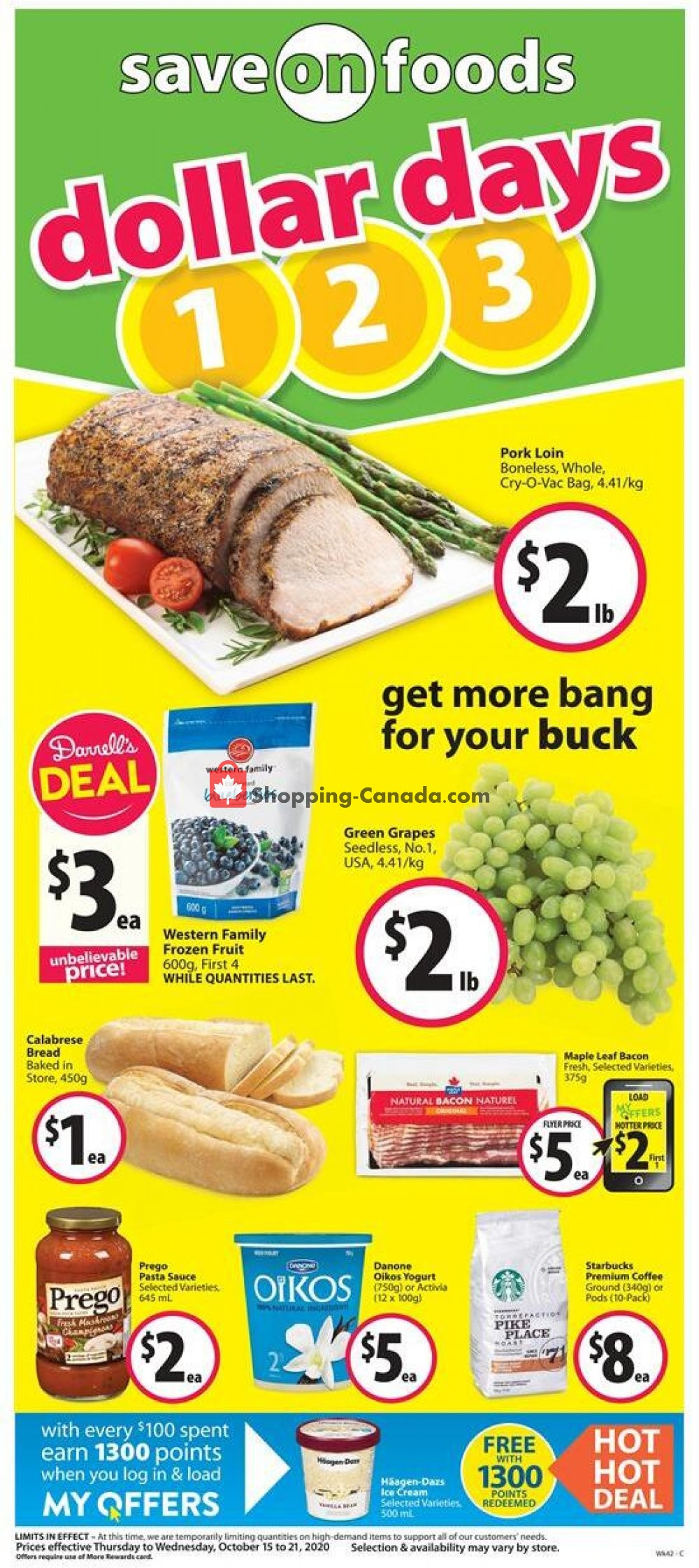 Flyer Save On Foods Canada - from Thursday October 15, 2020 to Wednesday October 21, 2020