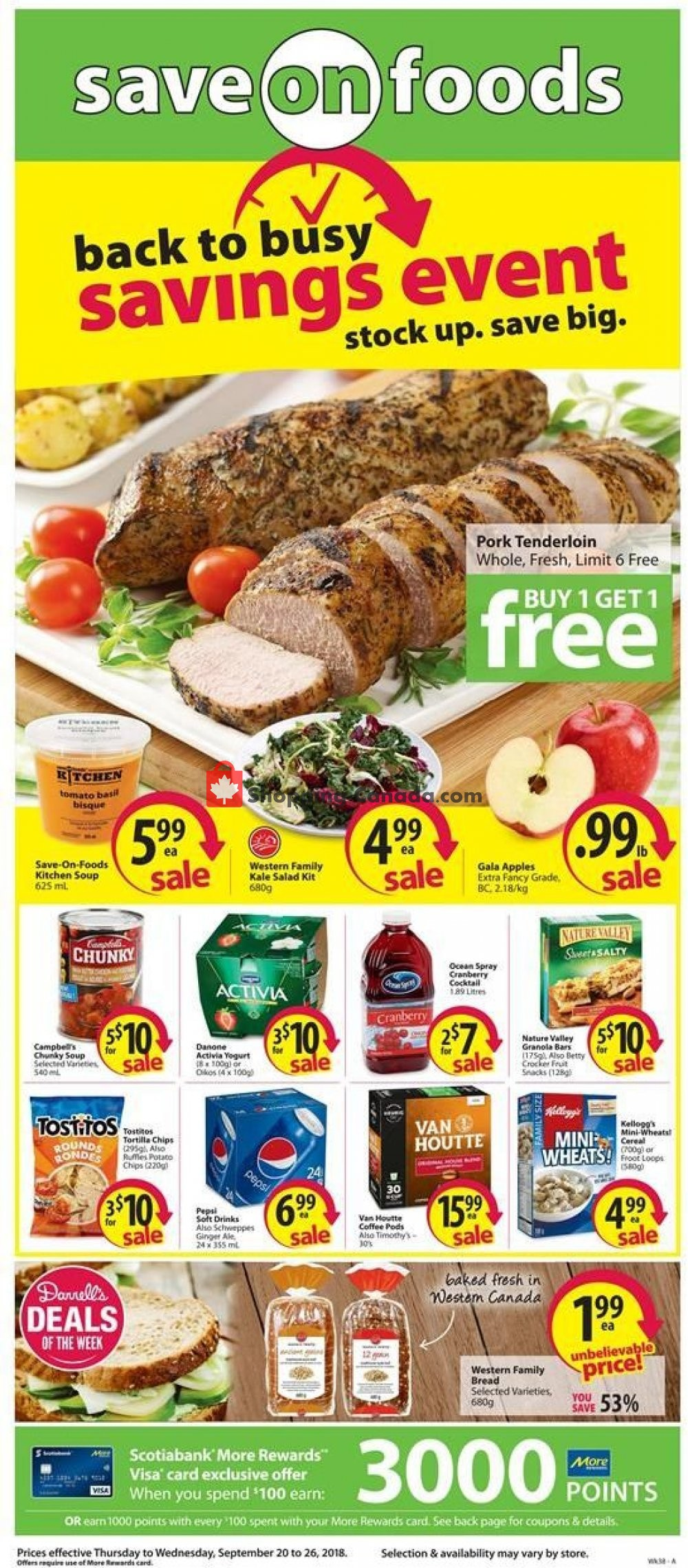 Flyer Save On Foods Canada - from Thursday September 20, 2018 to Wednesday September 26, 2018
