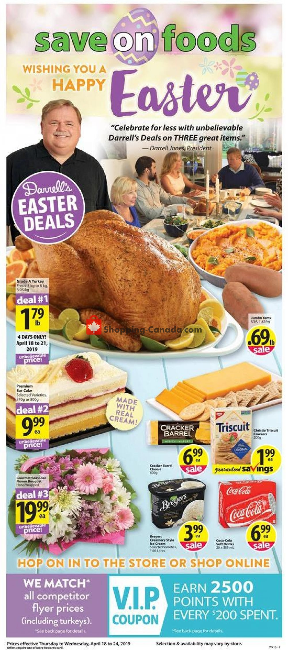 Flyer Save On Foods Canada - from Thursday April 18, 2019 to Wednesday April 24, 2019