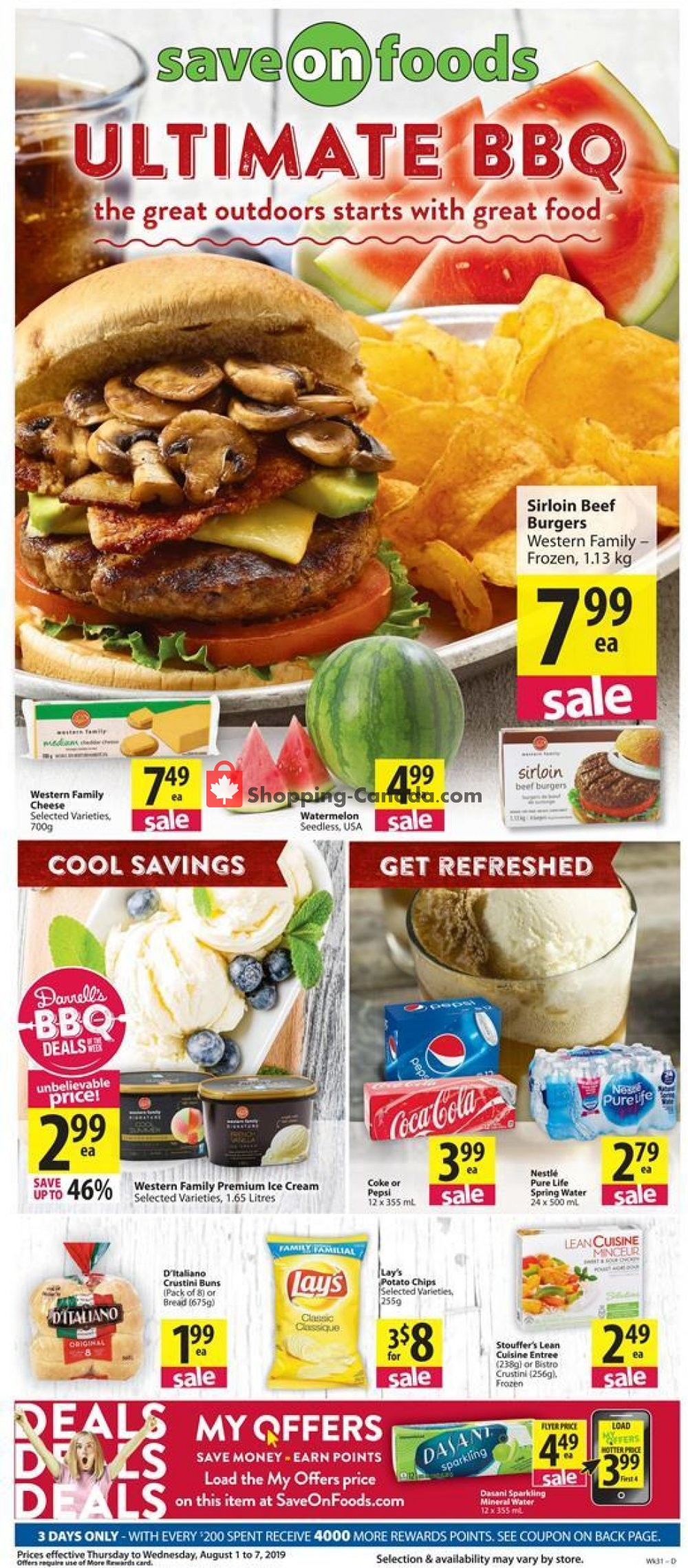 Flyer Save On Foods Canada - from Thursday August 1, 2019 to Wednesday August 7, 2019