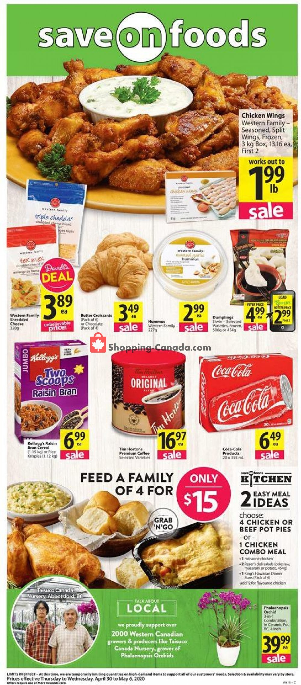 Flyer Save On Foods Canada - from Thursday April 30, 2020 to Wednesday May 6, 2020