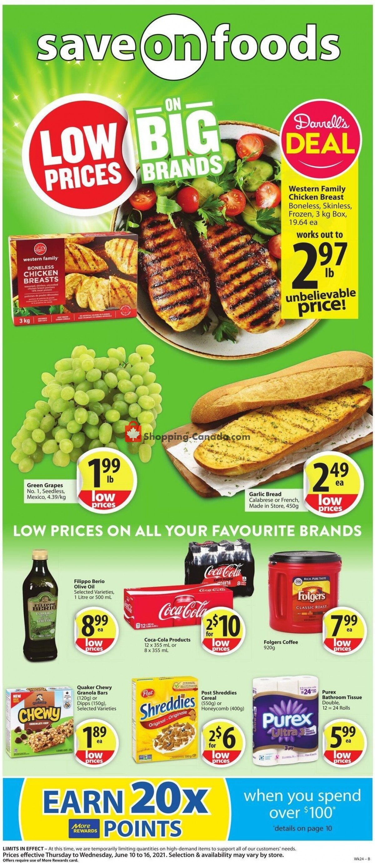 Flyer Save On Foods Canada - from Thursday June 10, 2021 to Wednesday June 16, 2021
