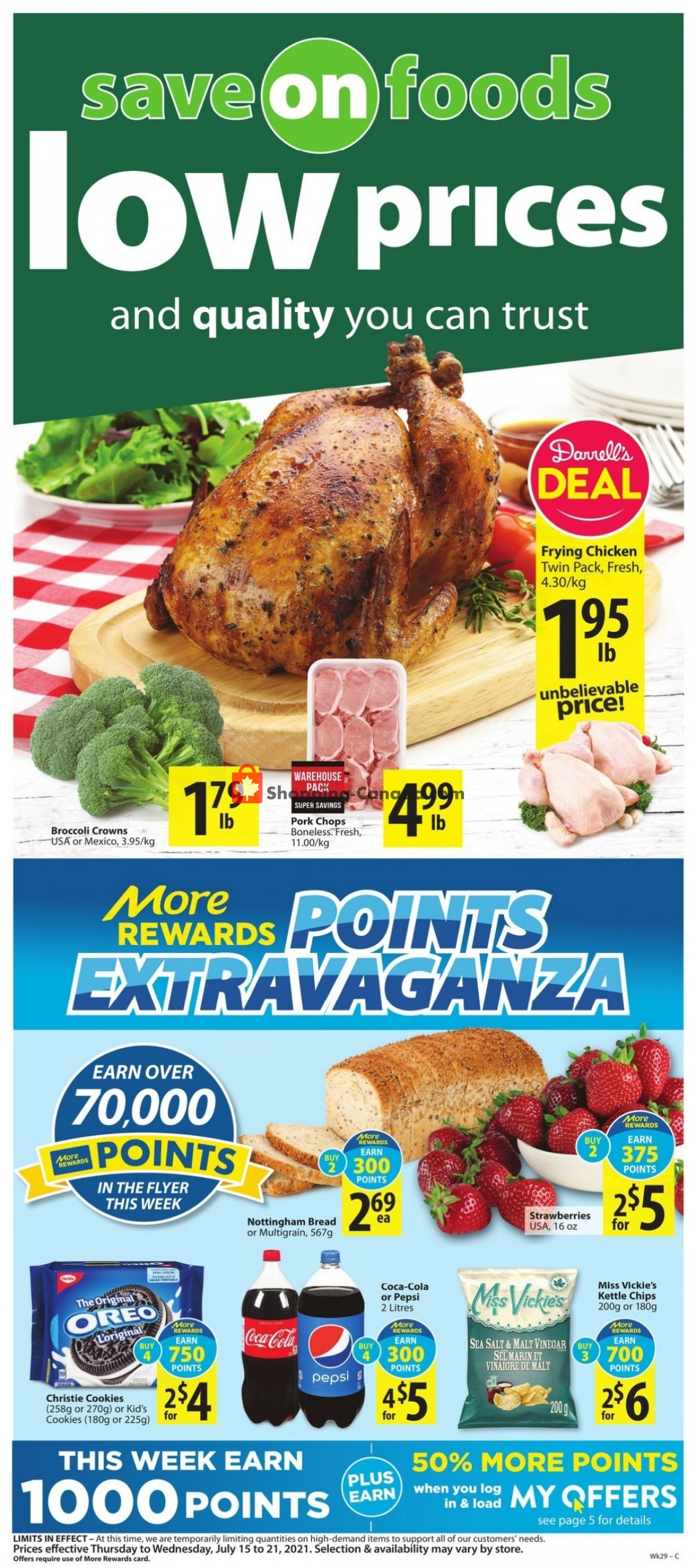 Flyer Save On Foods Canada - from Thursday July 15, 2021 to Wednesday July 21, 2021