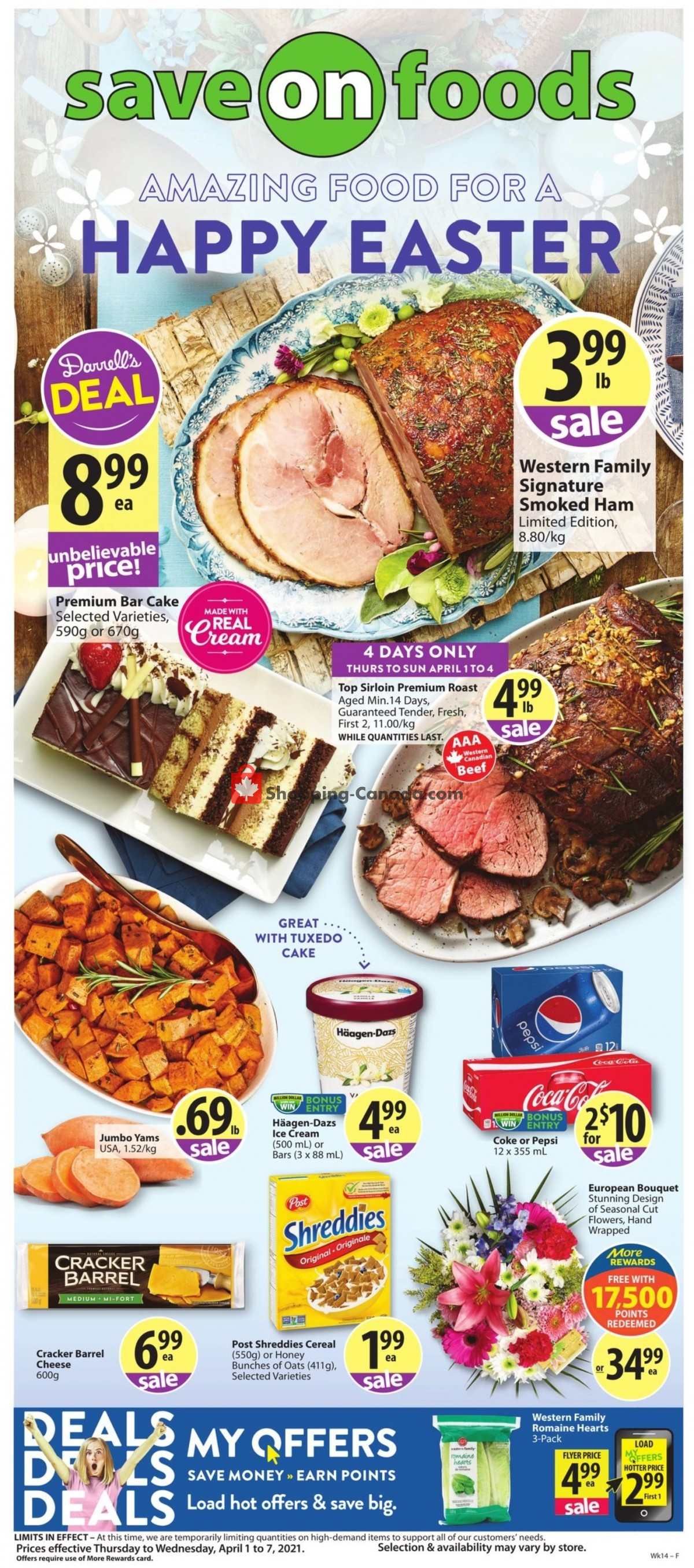 Flyer Save On Foods Canada - from Thursday April 1, 2021 to Wednesday April 7, 2021
