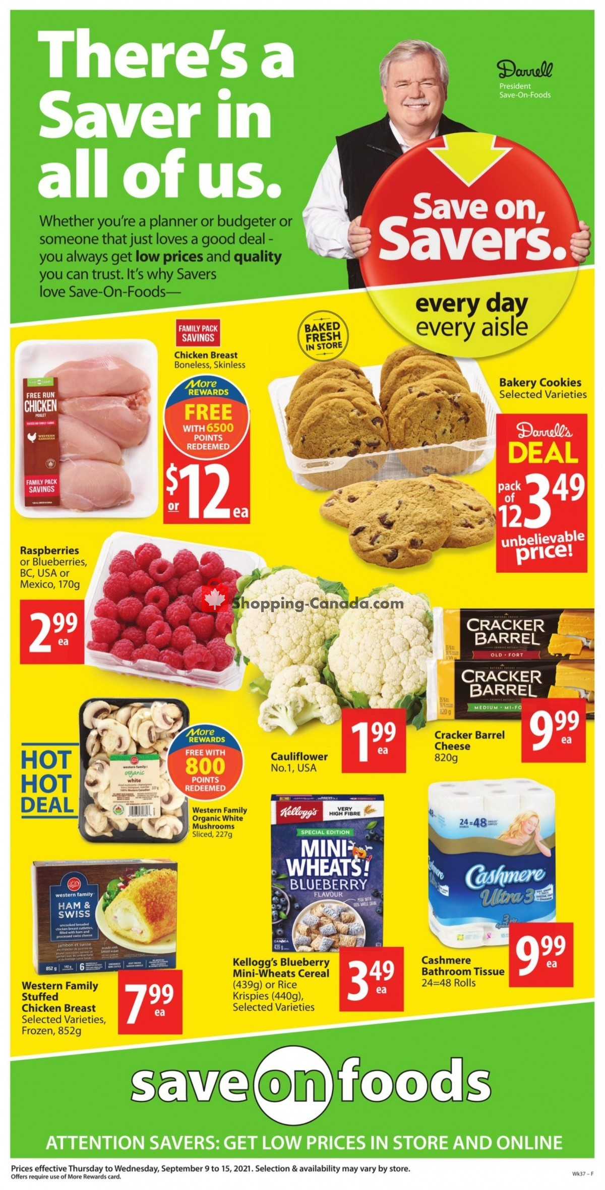 Flyer Save On Foods Canada - from Thursday September 9, 2021 to Wednesday September 15, 2021