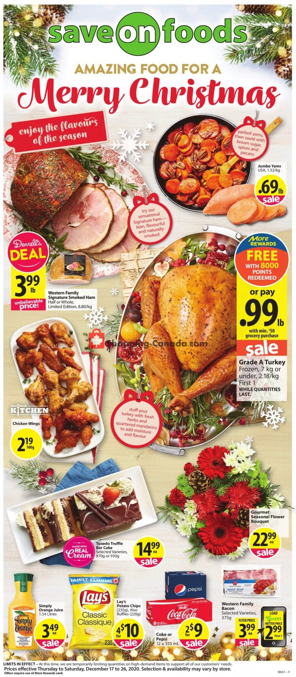 Flyer Save On Foods Canada - from Thursday December 17, 2020 to Saturday December 26, 2020