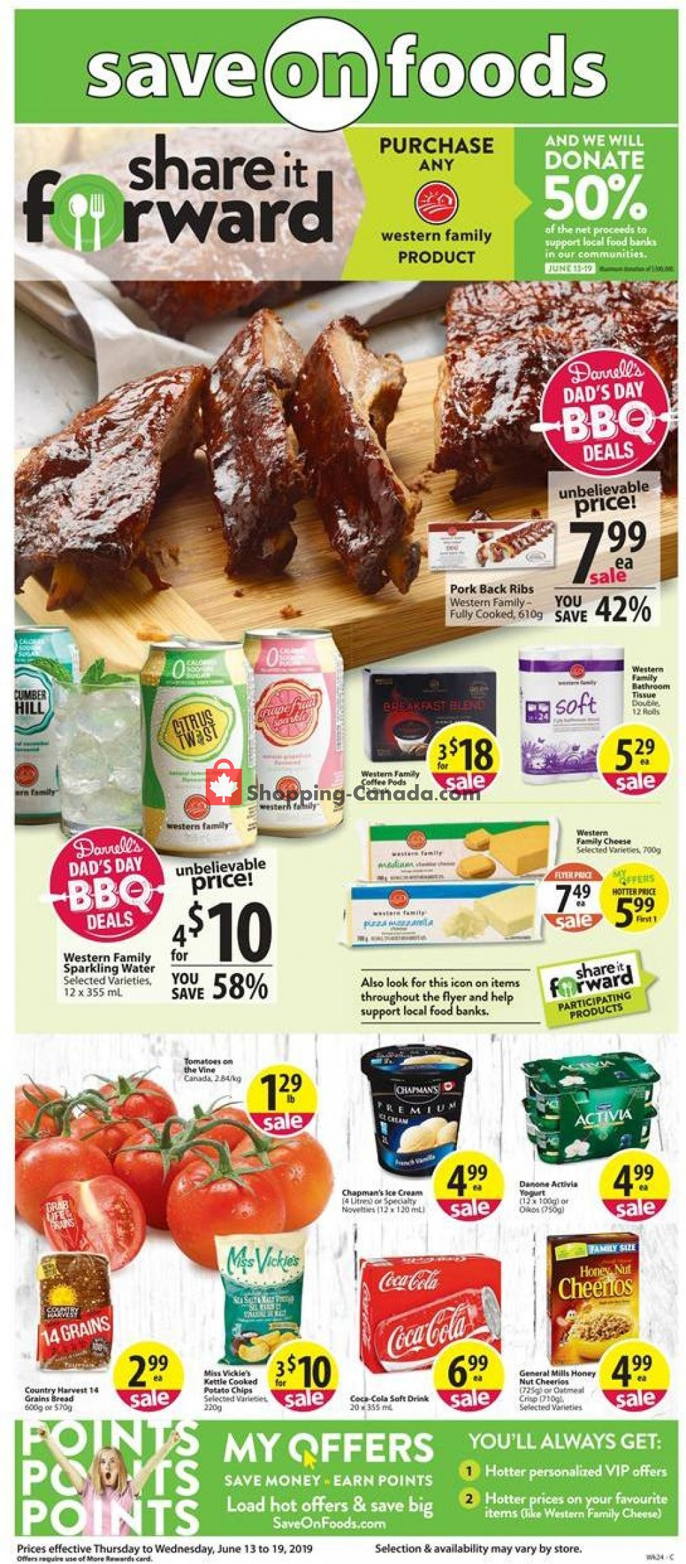 Flyer Save-On-Foods Canada - from Thursday June 13, 2019 to Wednesday June 19, 2019