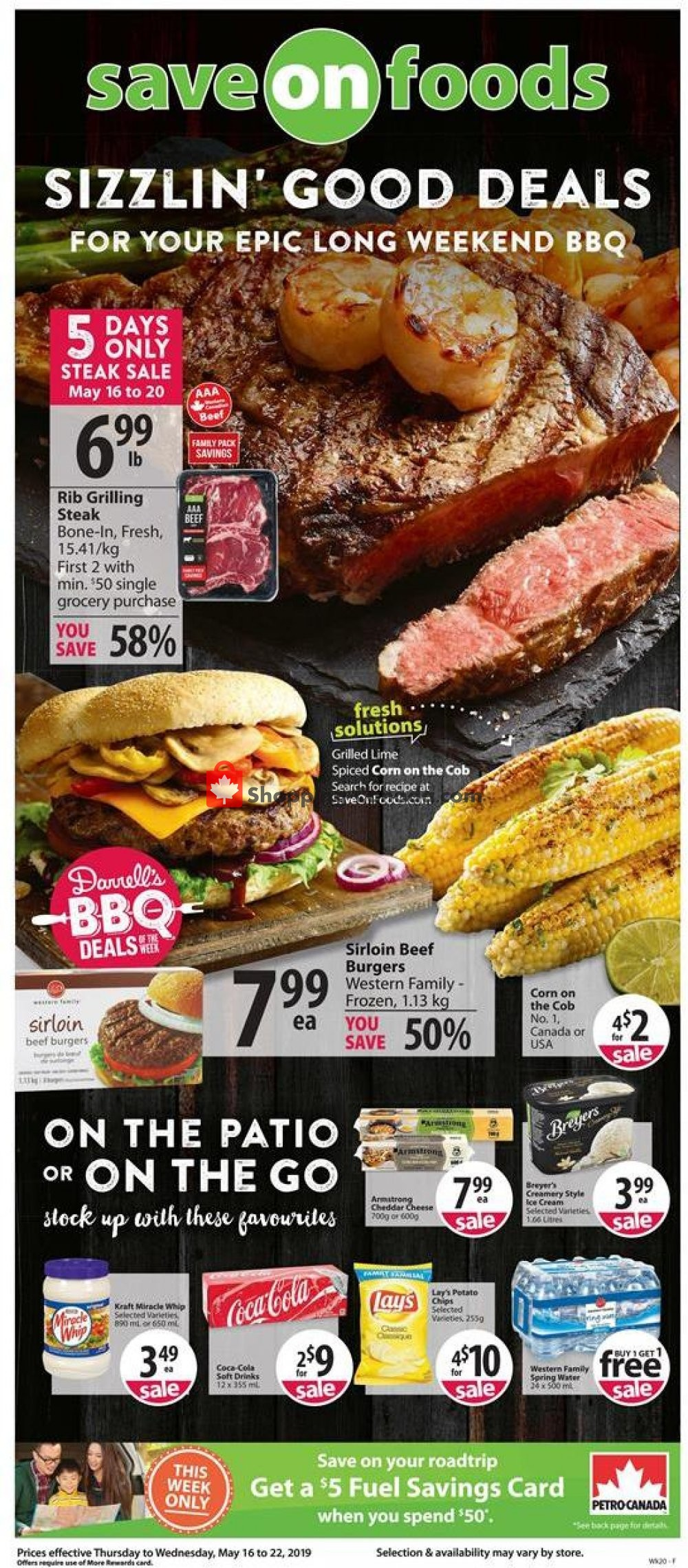 Flyer Save-On-Foods Canada - from Thursday May 16, 2019 to Wednesday May 22, 2019