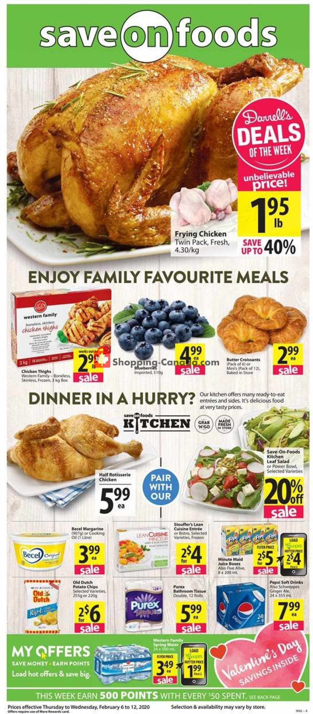 Flyer Save On Foods Canada - from Thursday February 6, 2020 to Wednesday February 12, 2020