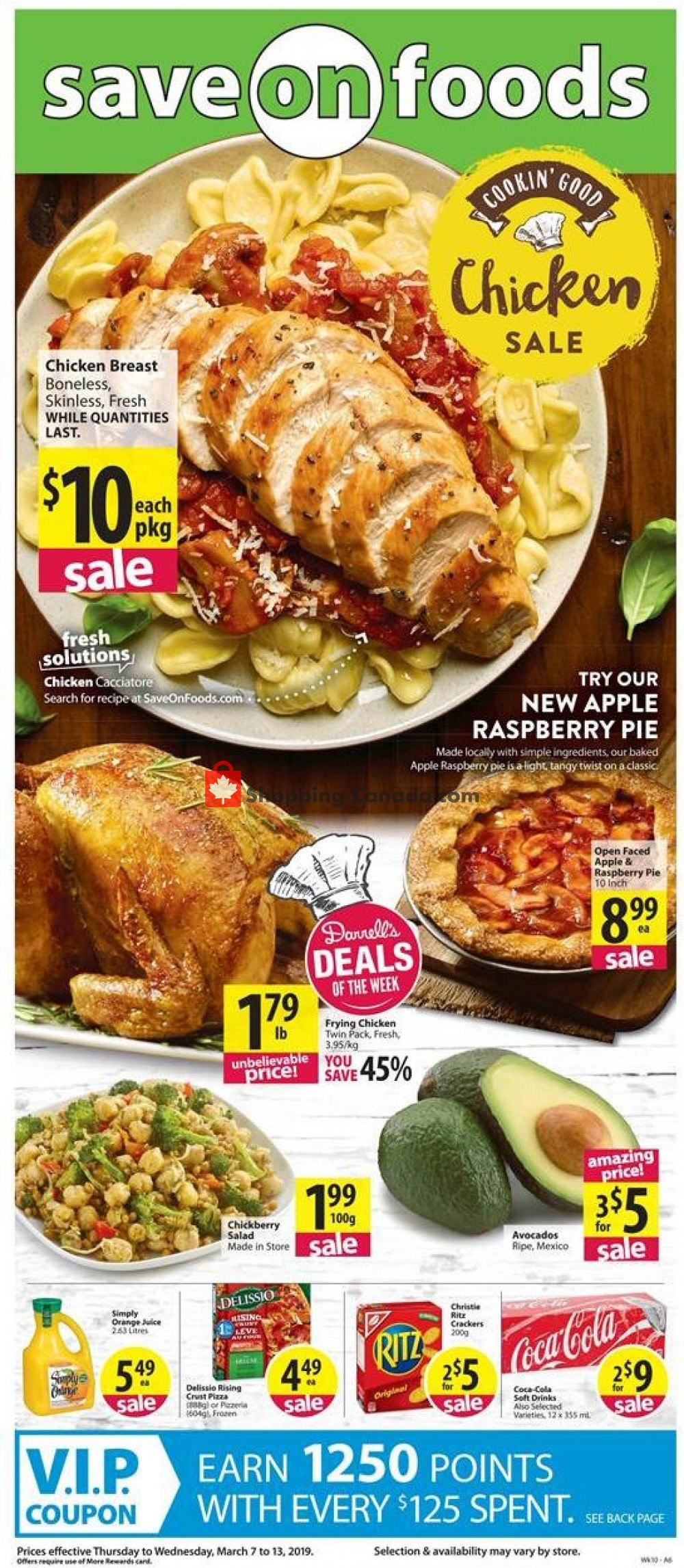 Flyer Save On Foods Canada - from Thursday March 7, 2019 to Wednesday March 13, 2019