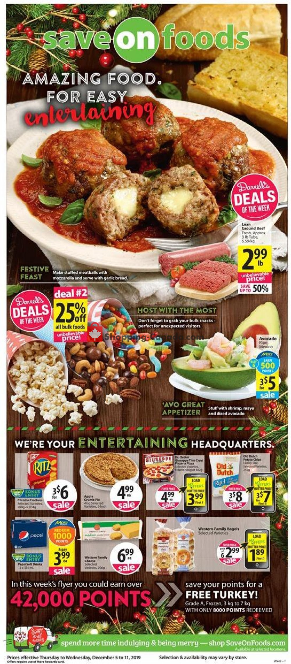 Flyer Save-On-Foods Canada - from Thursday December 5, 2019 to Wednesday December 11, 2019