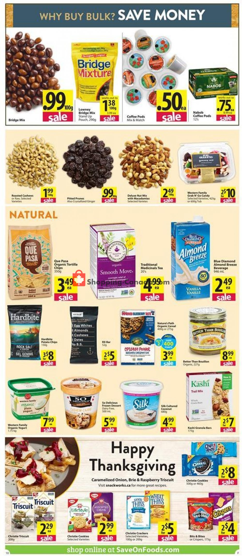 Flyer Save On Foods Canada - from Thursday October 10, 2019 to Wednesday October 16, 2019