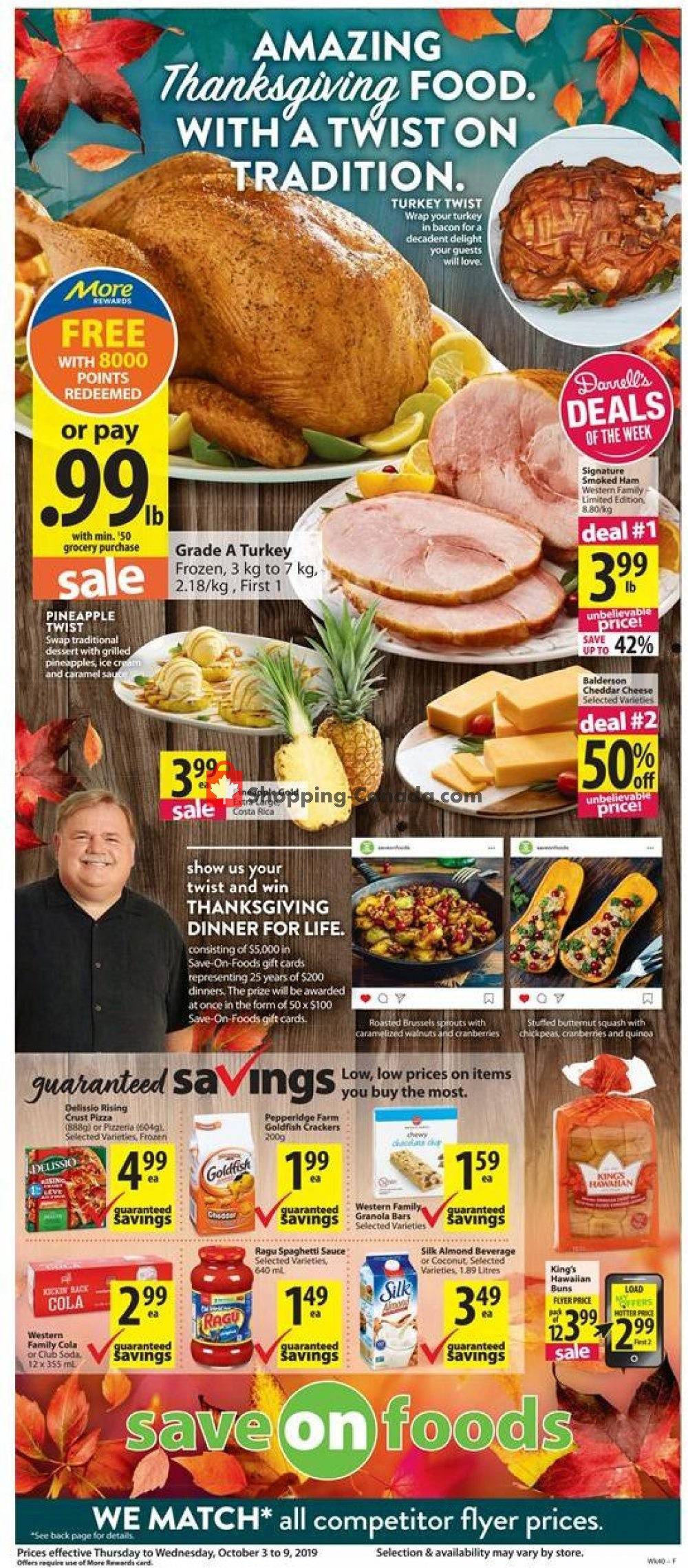 Flyer Save On Foods Canada - from Thursday October 3, 2019 to Wednesday October 9, 2019