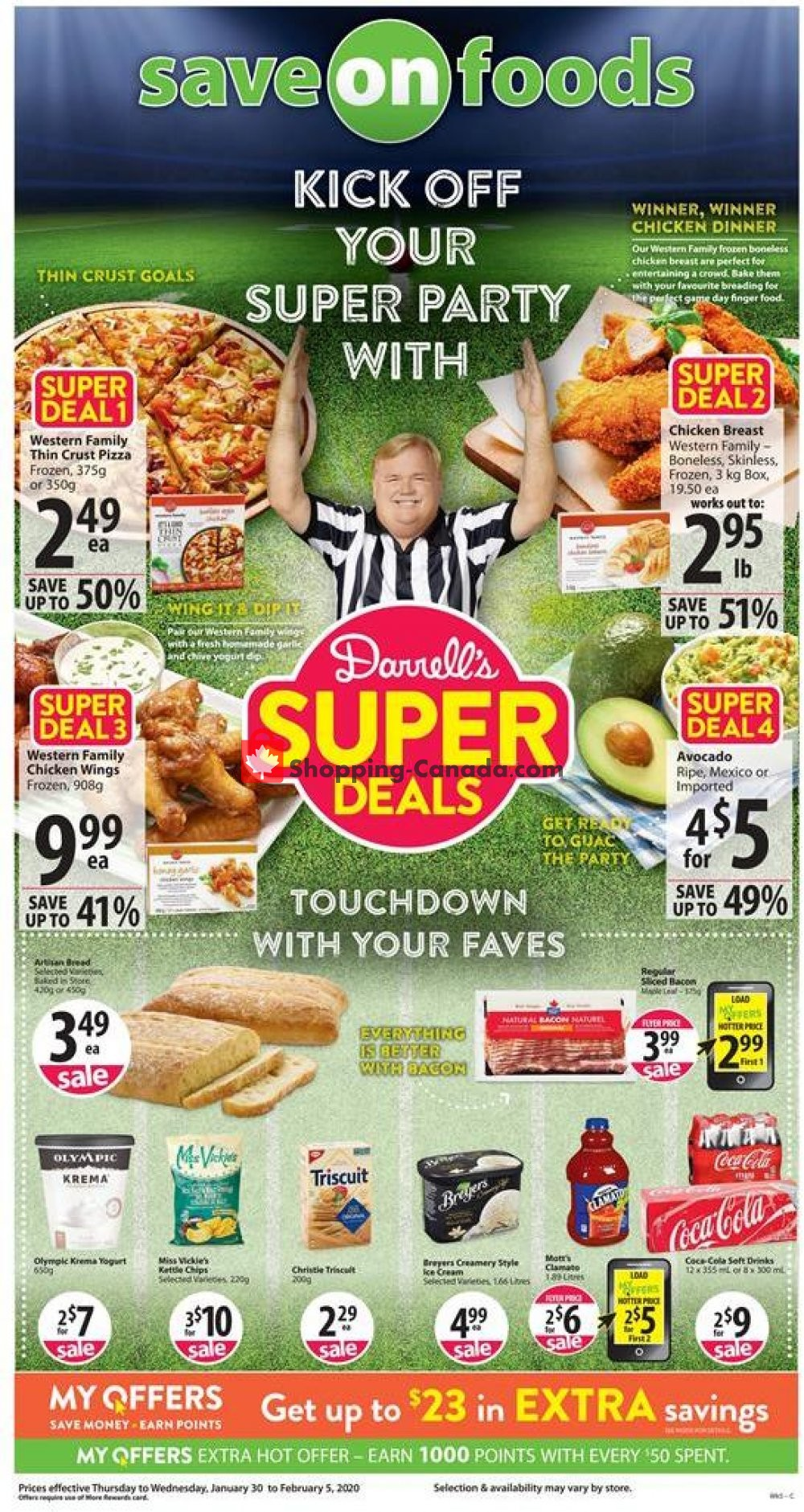 Flyer Save On Foods Canada - from Thursday January 30, 2020 to Wednesday February 5, 2020