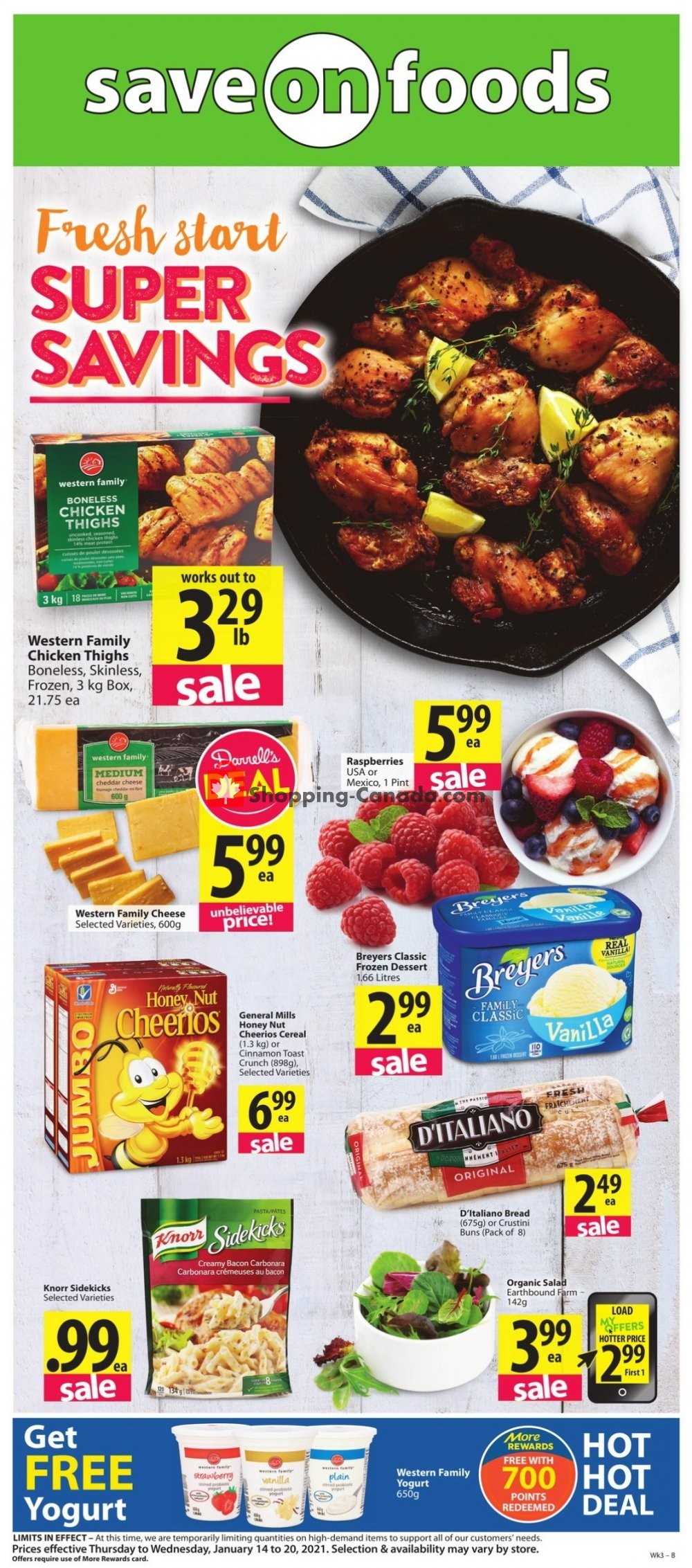 Flyer Save On Foods Canada - from Thursday January 14, 2021 to Wednesday January 20, 2021