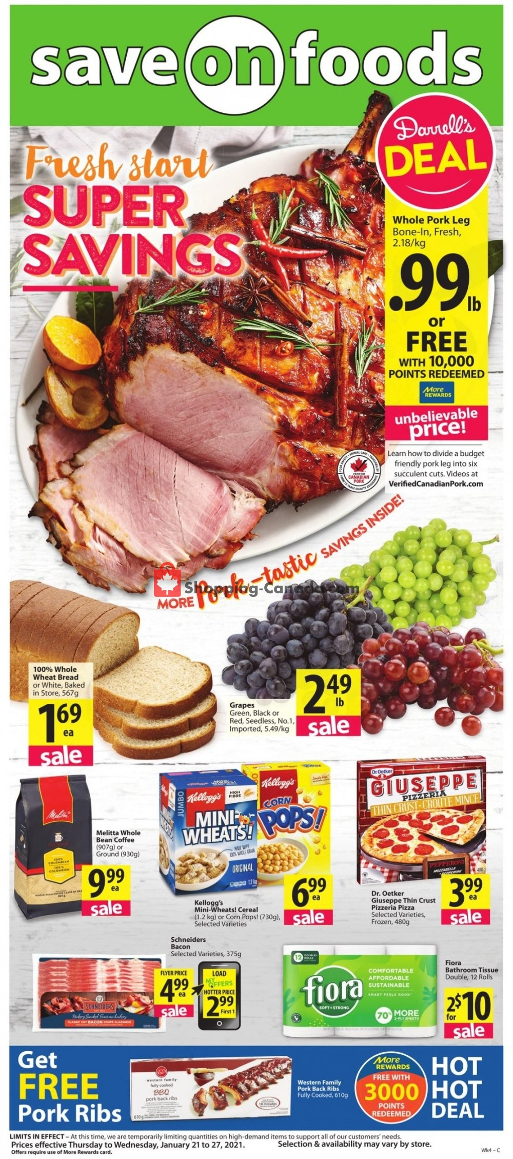 Flyer Save On Foods Canada - from Thursday January 21, 2021 to Wednesday January 27, 2021
