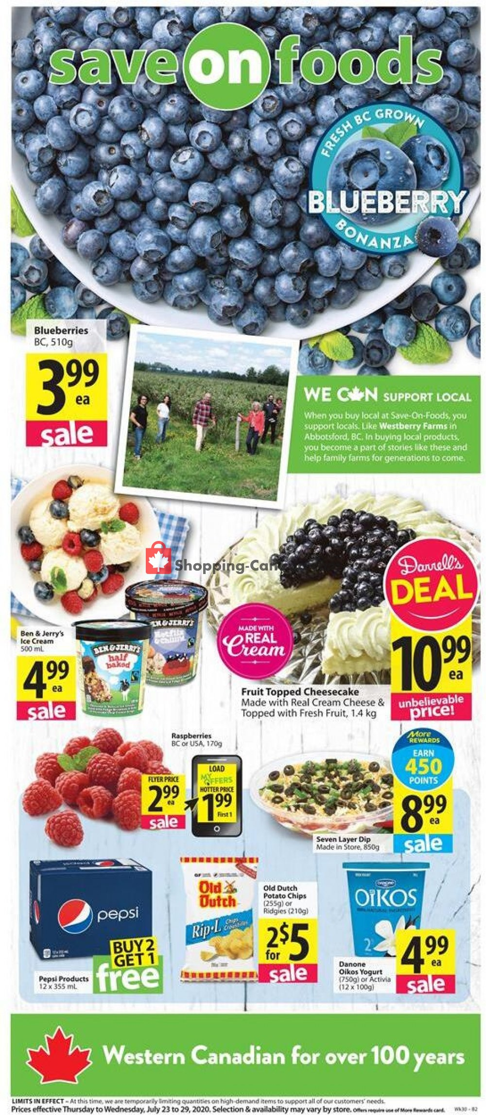 Flyer Save On Foods Canada - from Thursday July 23, 2020 to Wednesday July 29, 2020