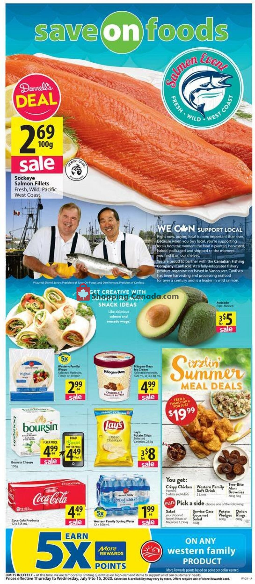 Flyer Save On Foods Canada - from Thursday July 9, 2020 to Wednesday July 15, 2020