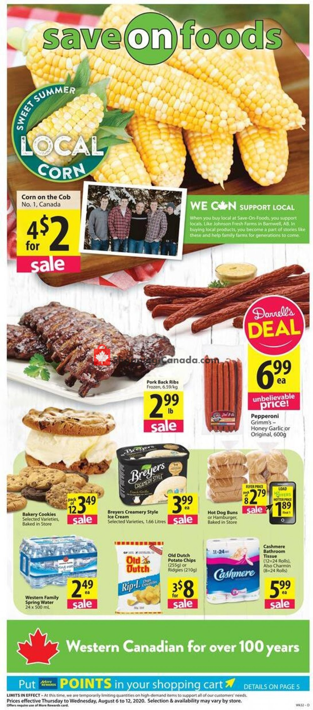 Flyer Save On Foods Canada - from Thursday August 6, 2020 to Wednesday August 12, 2020