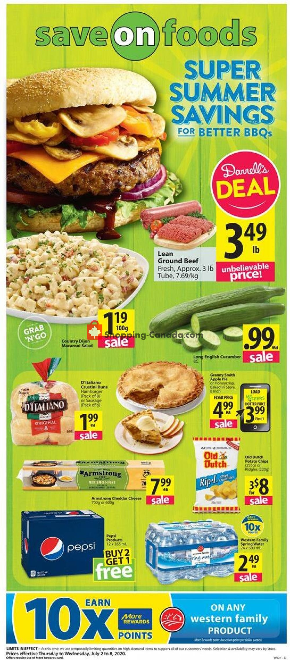 Flyer Save On Foods Canada - from Thursday July 2, 2020 to Wednesday July 8, 2020