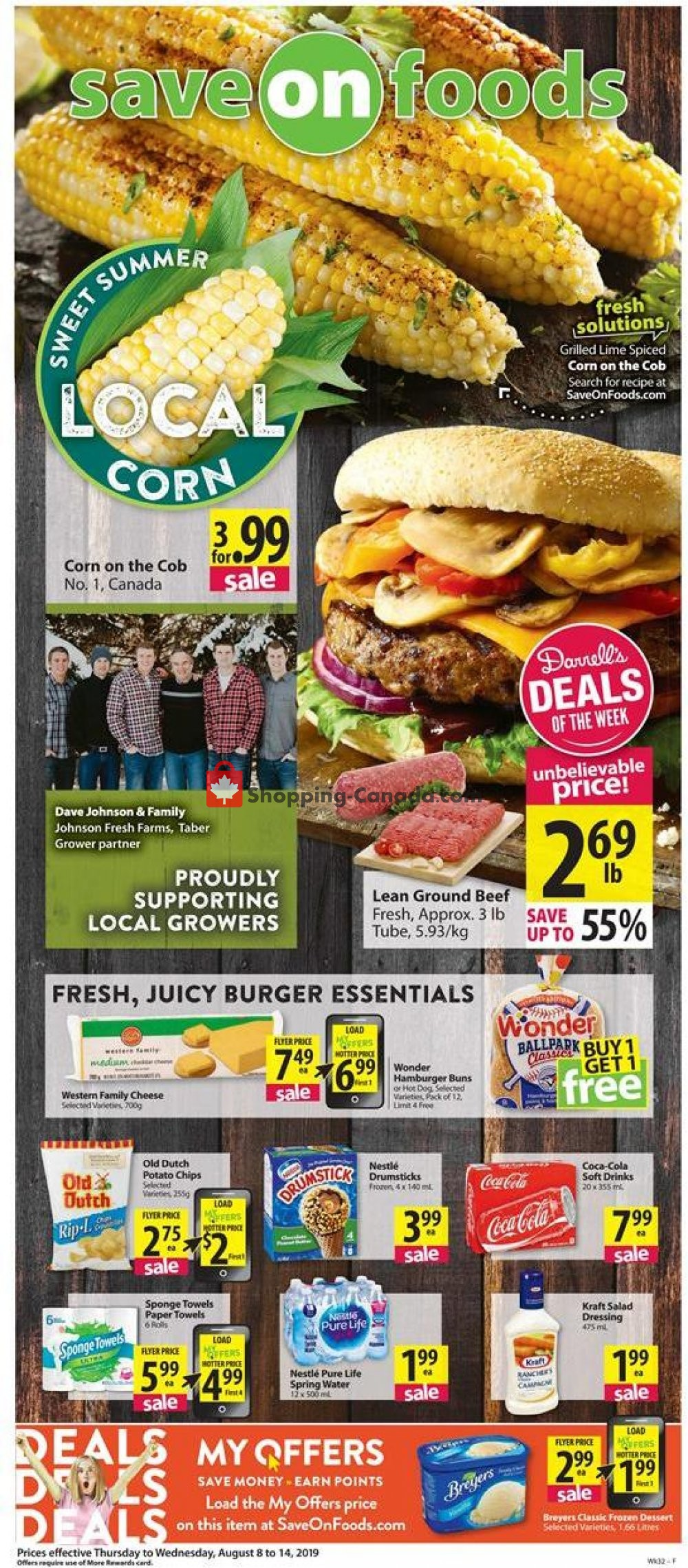 Flyer Save On Foods Canada - from Thursday August 8, 2019 to Wednesday August 14, 2019
