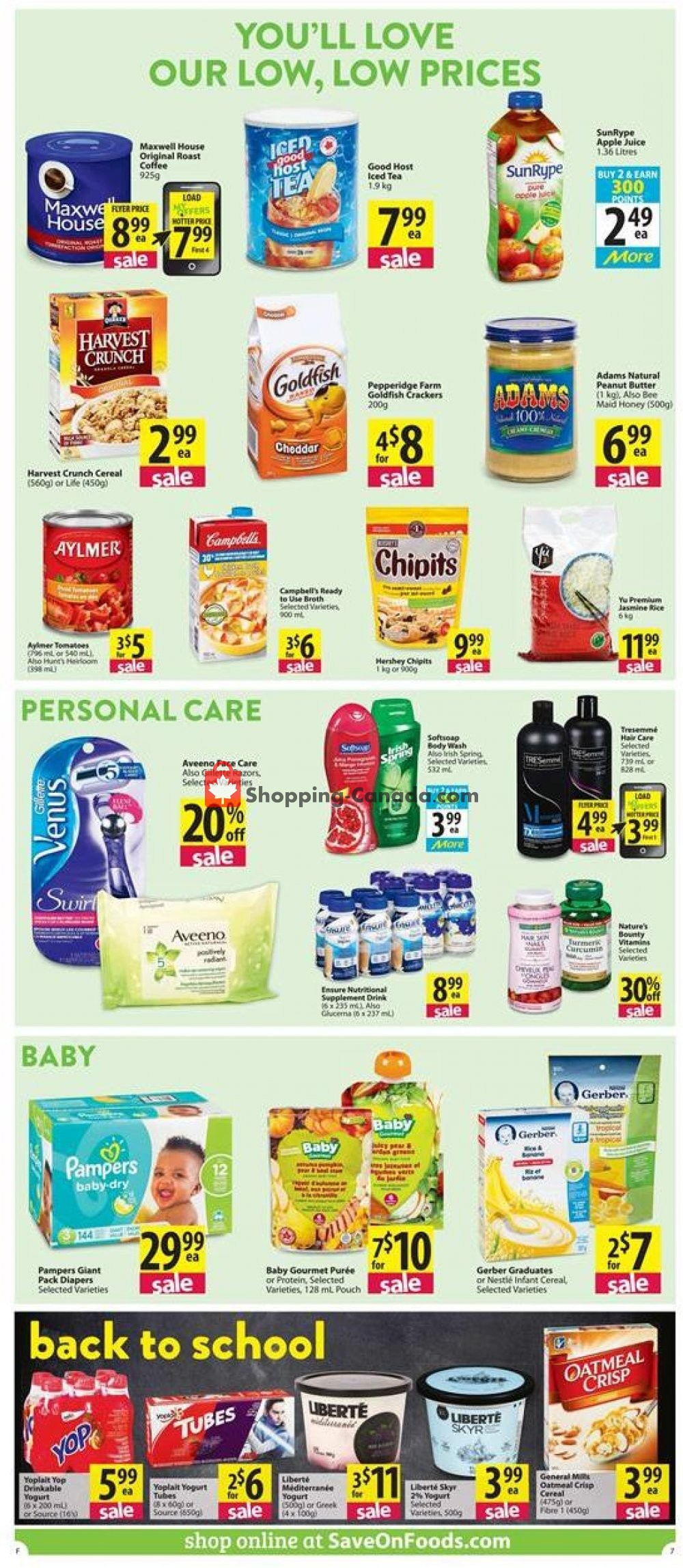 Flyer Save-On-Foods Canada - from Thursday August 8, 2019 to Wednesday August 14, 2019