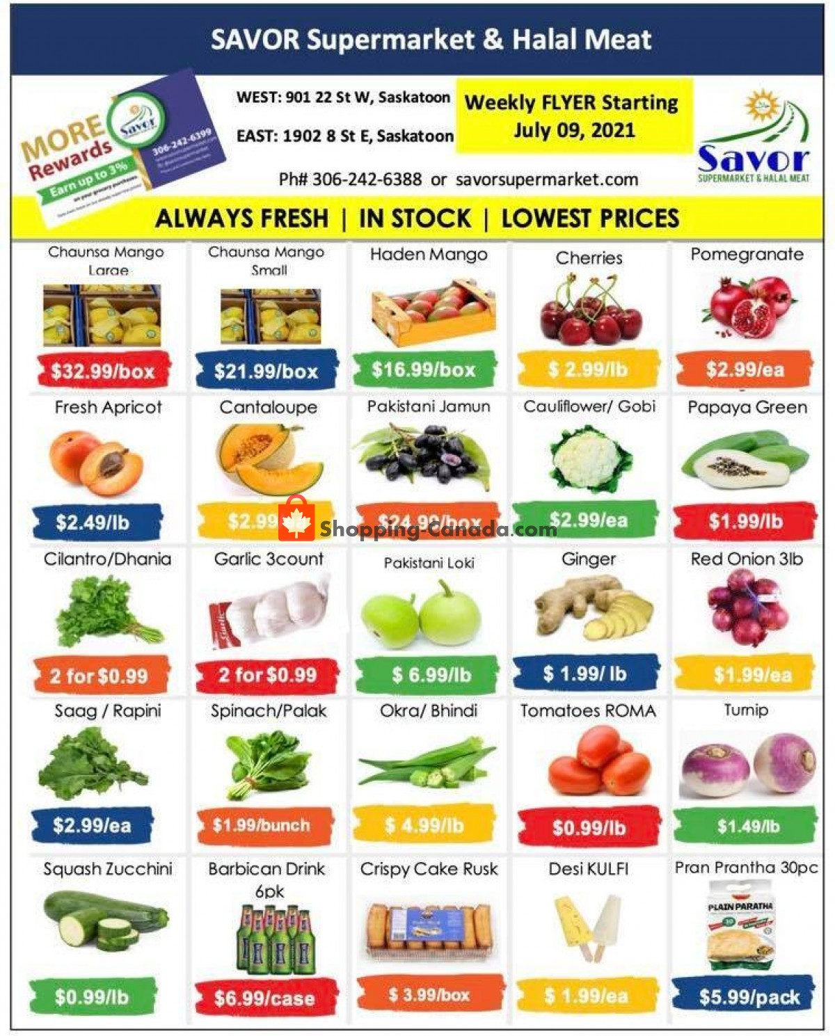 Flyer Savor Supermarket Canada - from Friday July 9, 2021 to Thursday July 15, 2021