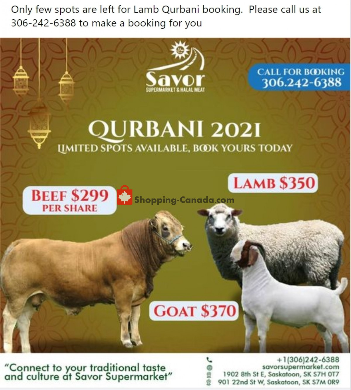 Flyer Savor Supermarket Canada - from Friday July 16, 2021 to Thursday July 22, 2021