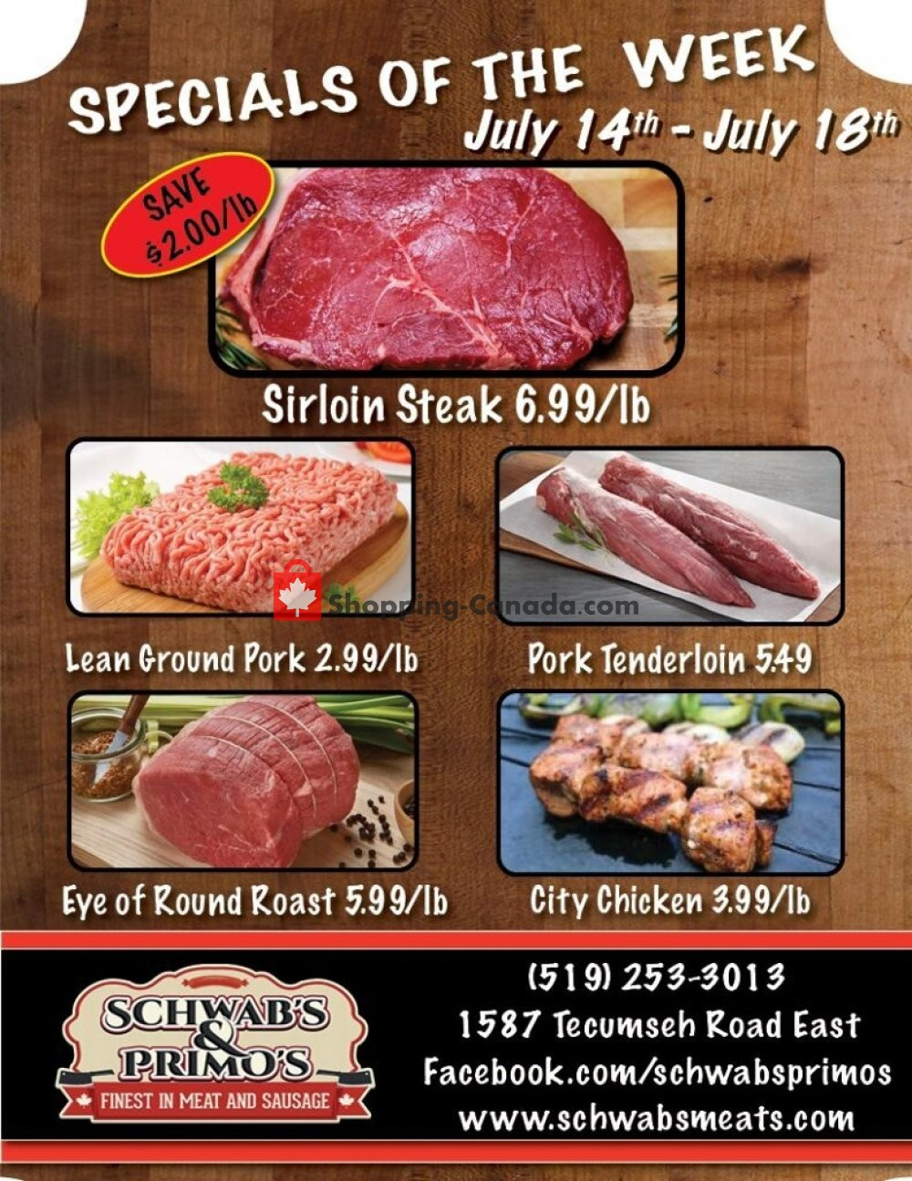 Flyer Schwab's & Primo's Canada - from Tuesday July 14, 2020 to Saturday July 18, 2020