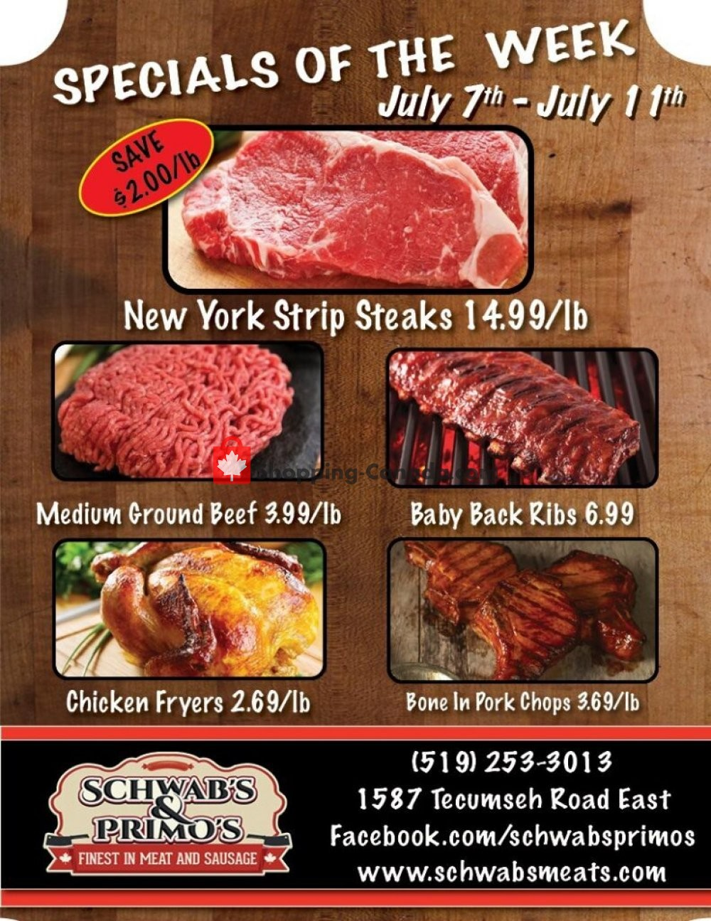 Flyer Schwab's & Primo's Canada - from Tuesday July 7, 2020 to Saturday July 11, 2020