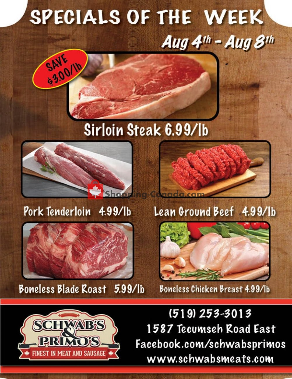 Flyer Schwab's & Primo's Canada - from Tuesday August 4, 2020 to Saturday August 8, 2020