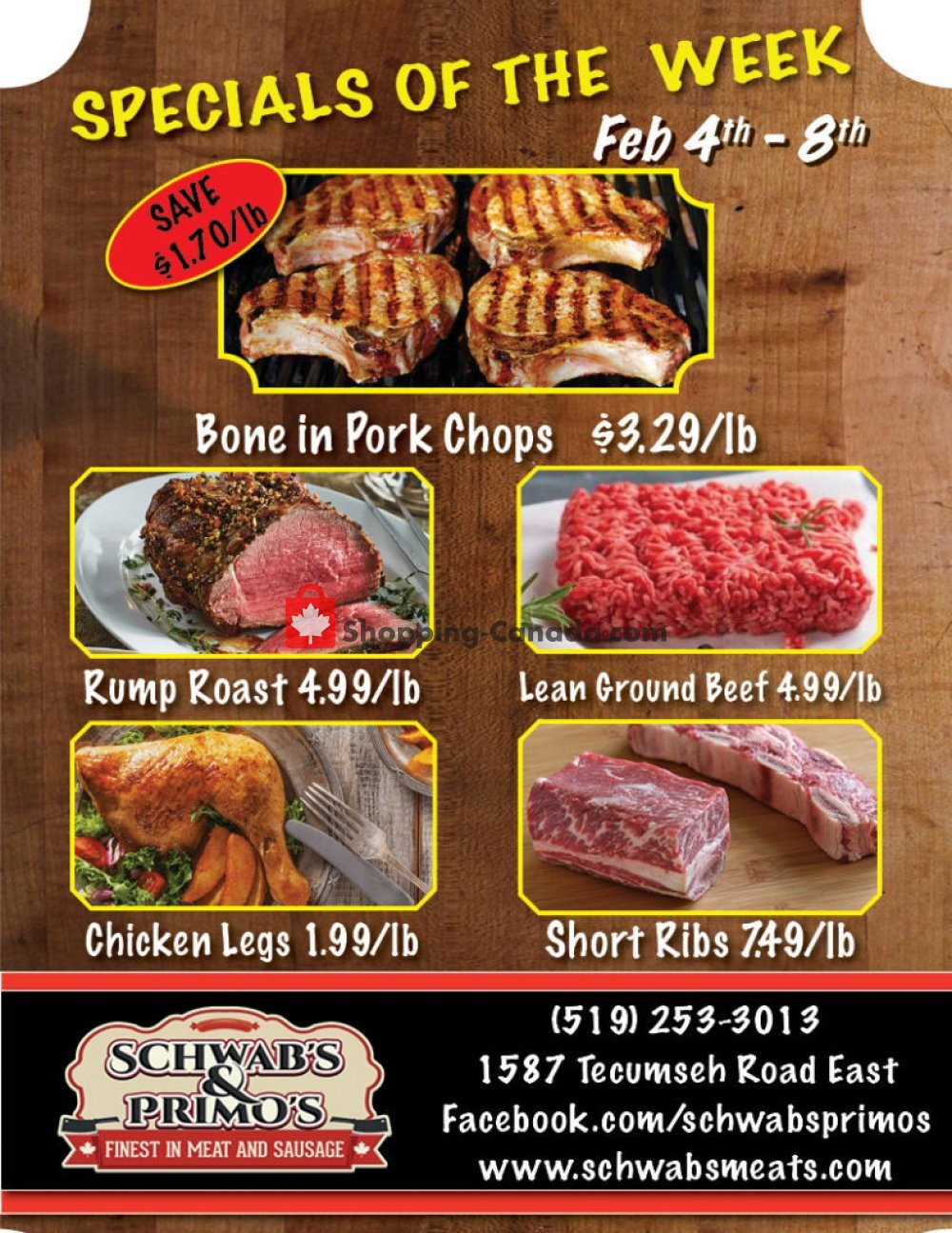 Flyer Schwab's & Primo's Canada - from Tuesday February 4, 2020 to Saturday February 8, 2020