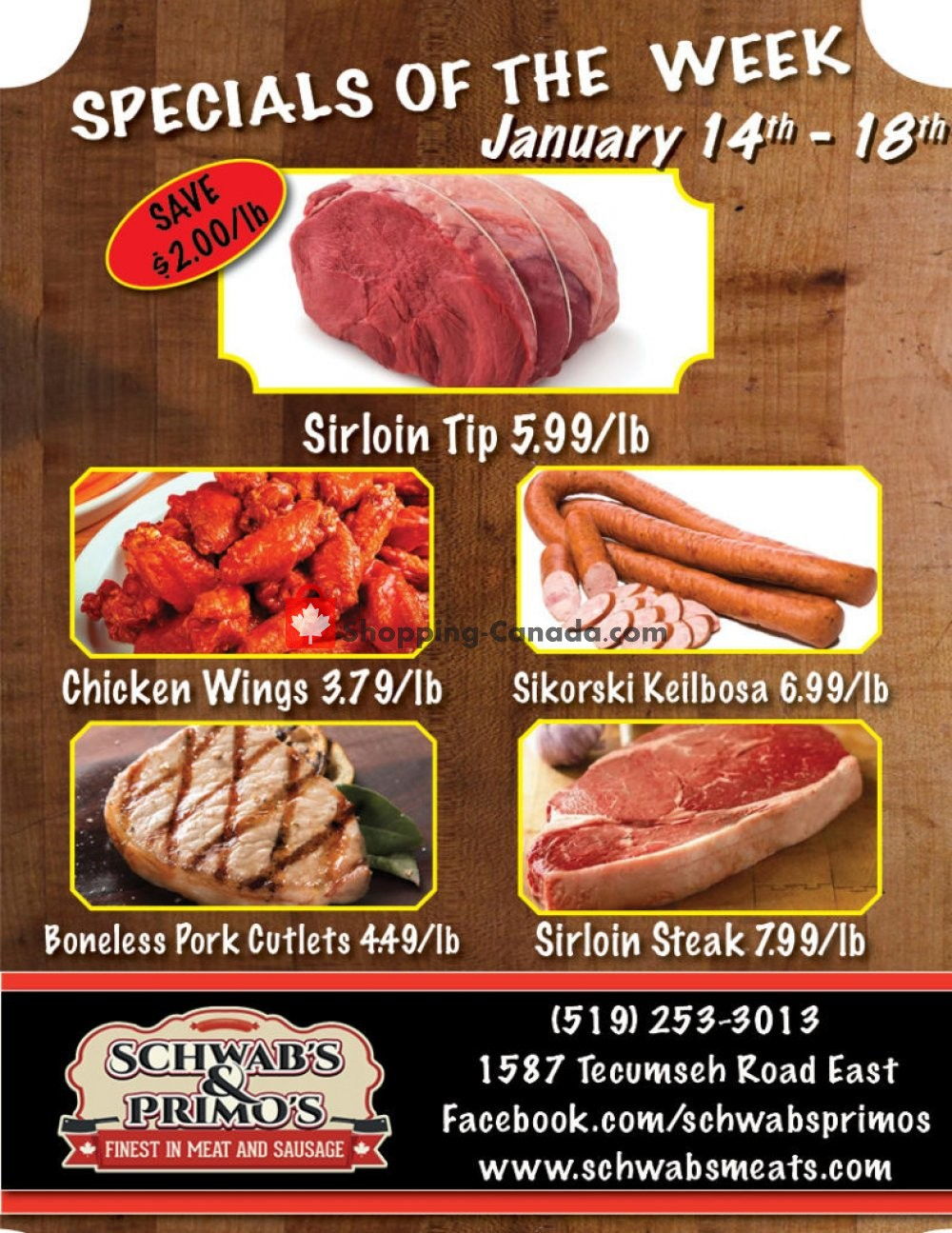 Flyer Schwab's & Primo's Canada - from Tuesday January 14, 2020 to Saturday January 18, 2020