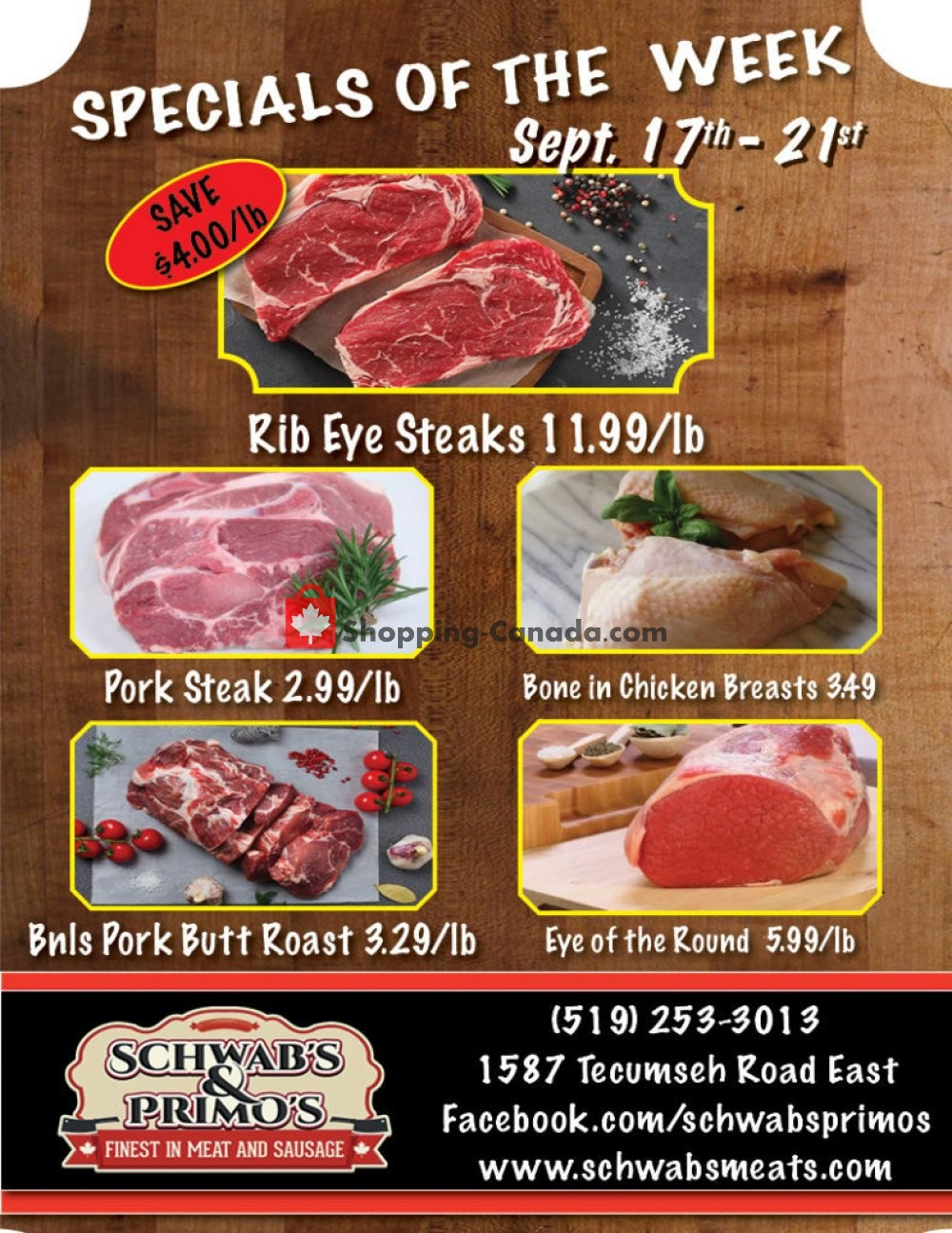 Flyer Schwab's & Primo's Canada - from Tuesday September 17, 2019 to Saturday September 21, 2019