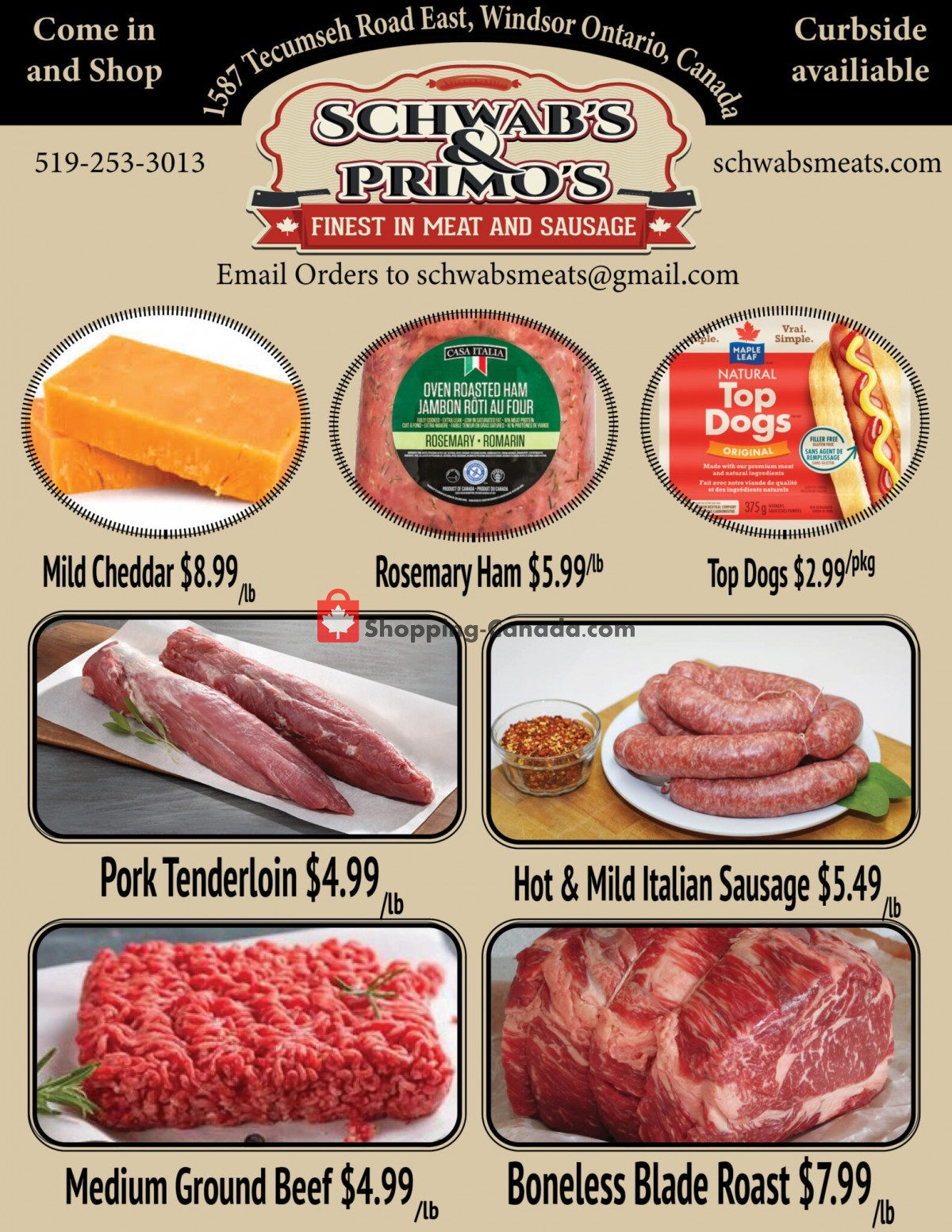 Flyer Schwab's & Primo's Canada - from Tuesday September 7, 2021 to Saturday September 11, 2021